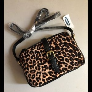 Small Black Leopard Purse